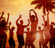 People Celebration Beach Party Summer Holiday Vacation Concept Royalty Free Stock Photos