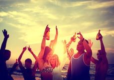 People Celebration Beach Party Summer Holiday Vacation Concept Stock Photography