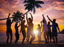 People Celebration Beach Party Summer Holiday Vacation Concept Stock Photos
