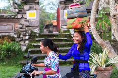 People during the celebration before Nyepi - Balinese Day of Silence. Stock Photo