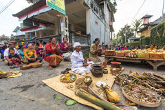 People during the celebration before Nyepi - Balinese Day of Silence Stock Photography