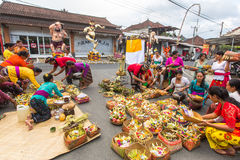 People during the celebration before Nyepi - Balinese Day of Silence. Stock Image