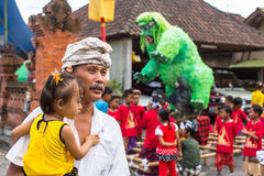 People during the celebration before Nyepi - Balinese Day of Silence. Royalty Free Stock Photography