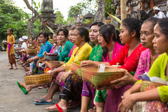 People during the celebration before Nyepi - Balinese Day of Silence. Stock Image