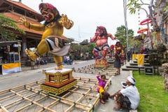 People during the celebration before Nyepi - Balinese Day of Silence. Royalty Free Stock Image