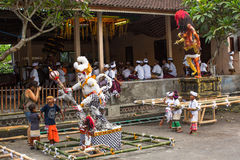People during the celebration before Nyepi - Balinese Day of Silence. Royalty Free Stock Photo