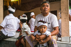 People during the celebration of Nyepi - Balinese Day of Silence. Stock Photos