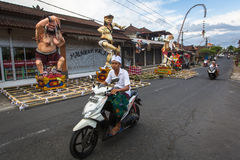 People during the celebration of Nyepi - Balinese Day of Silence. Royalty Free Stock Photography