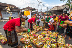 People during the celebration of Nyepi - Balinese Day of Silence. Royalty Free Stock Images