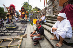 People during the celebration of Nyepi - Balinese Day of Silence. Stock Photo