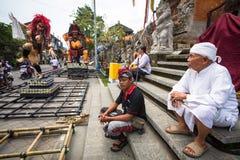 People during the celebration of Nyepi - Balinese Day of Silence. Stock Photo