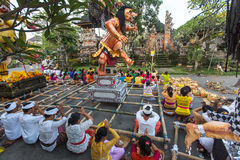 People during the celebration of Nyepi - Balinese Day of Silence Royalty Free Stock Image