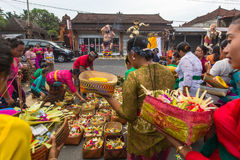 People during the celebration Nyepi - Balinese Day of Silence Stock Image