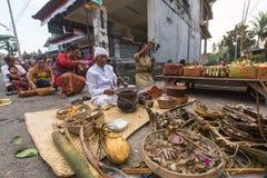 People during the celebration Nyepi - Balinese Day of Silence. Stock Photography