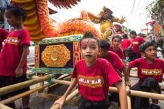 People during the celebration of Nyepi - day of silence Stock Image