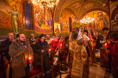 People during celebration of Orthodox Easter Stock Images