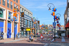 People on the celebratory street   in Dordrecht, Royalty Free Stock Photos