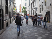 People in central London Royalty Free Stock Photos
