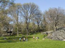 People in Central Park stock photography