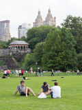 People at Central Park in New York Royalty Free Stock Photography
