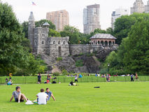 People at Central Park in New York Stock Photos