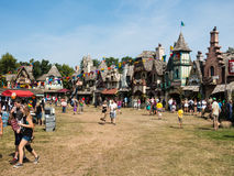 People at central square at Renaissance Festival Royalty Free Stock Images