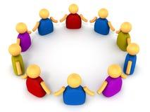 People chain circle stock illustration