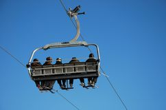 People on Chair Lift Royalty Free Stock Photos