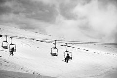 People on chair lift Royalty Free Stock Image