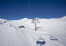 People on the chairlift Stock Images