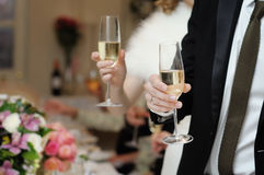 People with champagne glasses Stock Image