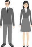 People characters avatars stand set in flat style Royalty Free Stock Photo