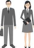 People characters avatars stand set in flat style Royalty Free Stock Photography