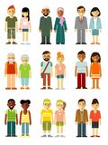 People characters couple standing together set Royalty Free Stock Photography