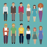 People characters graphic set Vector illustration Royalty Free Stock Photography