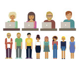 People characters set Vector illustration Stock Image