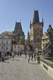People on Charles Bridge, Prague Stock Image