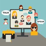 People chat global communication. Stock Photos