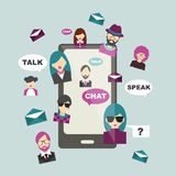 People chat global communication. Stock Photo