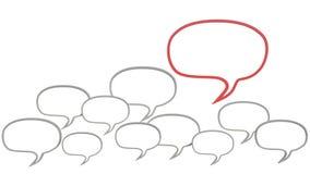 People Chatting. main opinion Stock Photo