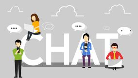 People and chatting.