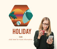 People Checking Holiday Travel Vacation Concept Royalty Free Stock Photography