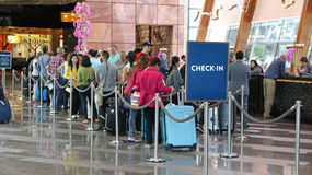 People checking-in Royalty Free Stock Photo