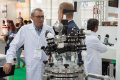 People at Chem-Med, the Mediterranean chemical event in Milan, Italy Stock Photo
