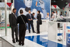 People at Chem-Med, the Mediterranean chemical event in Milan, Italy Stock Images