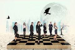 People on the chess-board Stock Images