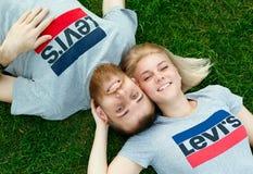 People, Child, Grass, Fun Stock Photography