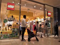 Lego store in Rome stock photo