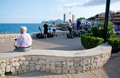 People chilling and preparing to go on tour on segway Stock Photos