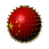People on China flag sphere Royalty Free Stock Image